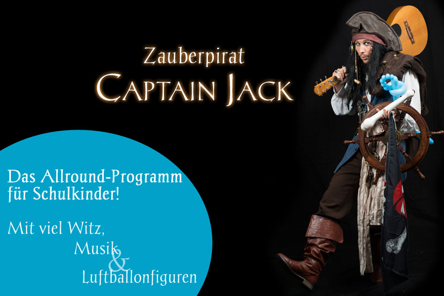 Pirate magician Captain Jack by Ashoka Entertainment