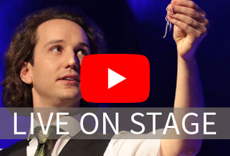 Magician Kilian Hein from Germany live on stage promo reel
