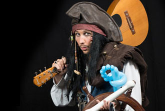 Pirate magician Captain Jack